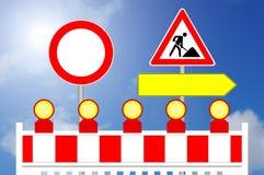Την περιοχή κατασκευής, που απαγορεύουν τον τρόπο και τον εναλλακτικό τρόπο Στοκ φωτογραφία με δικαίωμα ελεύθερης χρήσης