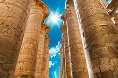 της Αφρικής μπλε Αίγυπτος karnak ναός ουρανού luxor pylon Στοκ εικόνες με δικαίωμα ελεύθερης χρήσης