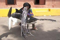 Της Βενεζουέλας χορεύοντας διάβολοι της άυλης πολιτισμικής κληρονομιάς της ΟΥΝΕΣΚΟ Naiguata Στοκ εικόνες με δικαίωμα ελεύθερης χρήσης
