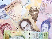 Της Βενεζουέλας Bolivares, ένα υπόβαθρο στοκ εικόνα με δικαίωμα ελεύθερης χρήσης