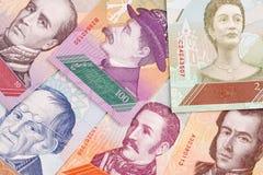 Της Βενεζουέλας Bolivares, ένα υπόβαθρο στοκ εικόνα