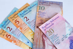 Της Βενεζουέλας νόμισμα/bolivares/έννοια κρίσης στοκ εικόνα με δικαίωμα ελεύθερης χρήσης