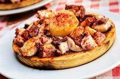 Της Γαλικίας μαγειρευμένο χταπόδι Στοκ φωτογραφία με δικαίωμα ελεύθερης χρήσης