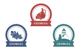 Της Γεωργίας ετικέτες καθορισμένες Στοκ Εικόνα
