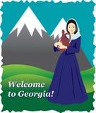 Της Γεωργίας κάρτα υποδοχής Στοκ Εικόνες