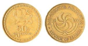 Της Γεωργίας παλαιό νόμισμα Στοκ Φωτογραφίες