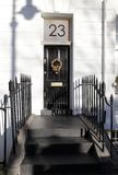 Της Γεωργίας πόρτα που χαρακτηρίζει τα κεραμωμένα βήματα στοκ φωτογραφία με δικαίωμα ελεύθερης χρήσης