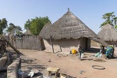 Της Γκάμπια χωριό στοκ εικόνα