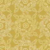 της δεκαετίας του '50 άνευ ραφής διανυσματικό σχέδιο στεφανιών λουλουδιών ύφους αναδρομικό Λαϊκός Floral κύκλος διανυσματική απεικόνιση