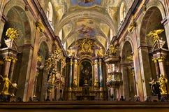 Της εσωτερικής Anna kirche, όμορφη μικρή μπαρόκ εκκλησία στη Βιέννη κεντρικός Στοκ φωτογραφία με δικαίωμα ελεύθερης χρήσης