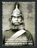 Της Κριμαίας γραμματόσημο του πολεμικού UK Στοκ Φωτογραφίες