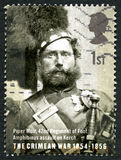 Της Κριμαίας γραμματόσημο του πολεμικού UK Στοκ φωτογραφία με δικαίωμα ελεύθερης χρήσης