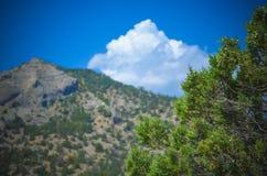 της Κριμαίας dag kara ακτίνα βουνών τοπίων ελαφριά Στοκ Εικόνα