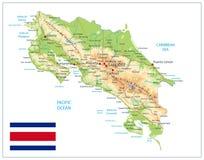 Της Κόστα Ρίκα χάρτης που απομονώνεται φυσικός στο λευκό απεικόνιση αποθεμάτων