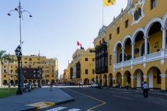 Της Λίμα, δημοτικό κτήριο Municipalidad de Στοκ Εικόνες