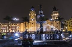 Της Λίμα καθεδρικός ναός - Plaza de Armes - Λίμα - Περού Στοκ Φωτογραφίες
