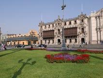 Της Λίμα παλάτι Archbisshop ` s και διακοσμητικός κήπος Στοκ Φωτογραφίες
