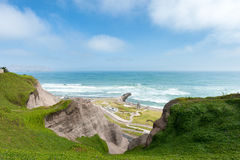 της Λίμα Περού Τοπίο από Miraflores Νοτιοειρηνικός ωκεανός στο υπόβαθρο Στοκ εικόνα με δικαίωμα ελεύθερης χρήσης