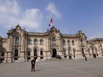 Της Λίμα προεδρικοί παλάτι και στρατιώτες Στοκ φωτογραφία με δικαίωμα ελεύθερης χρήσης