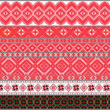 Της Λευκορωσίας παραδοσιακά σχέδια, διακοσμήσεις Σύνολο 4 στοκ εικόνα με δικαίωμα ελεύθερης χρήσης