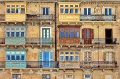 Της Μάλτα αρχιτεκτονική σε Valletta Μάλτα στοκ εικόνες με δικαίωμα ελεύθερης χρήσης