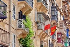Της Μάλτα αρχιτεκτονική σε Valletta Μάλτα στοκ φωτογραφία με δικαίωμα ελεύθερης χρήσης