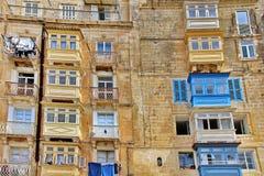 Της Μάλτα αρχιτεκτονική σε Valletta Μάλτα στοκ φωτογραφία