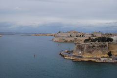 Της Μάλτα λιμένας της εισόδου και του πάρκου Στοκ φωτογραφίες με δικαίωμα ελεύθερης χρήσης