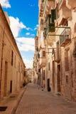 Της Μάλτα στενή οδός σε Valletta Στοκ φωτογραφίες με δικαίωμα ελεύθερης χρήσης