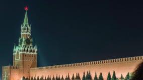 Της Μόσχας Κρεμλίνο ρολόι που ονομάζεται κύριο Kuranti στον πύργο Spasskaya κόκκινο τετράγωνο απόθεμα βίντεο