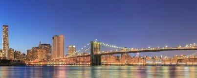 Της περιφέρειας του κέντρου πανόραμα του Μανχάταν πόλεων της Νέας Υόρκης στοκ εικόνες
