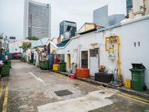 Της Σιγκαπούρης άποψη αλεών που βρίσκεται πίσω Muscat στην οδό Στοκ εικόνες με δικαίωμα ελεύθερης χρήσης