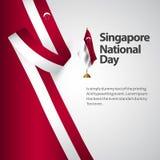 Διανυσματική απεικόνιση σχεδίου προτύπων εθνικής μέρας της Σιγκαπούρης απεικόνιση αποθεμάτων