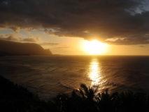 της Χαβάης ηλιοβασίλεμα στοκ φωτογραφίες