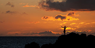 Της Χαβάης ηλιοβασίλεμα Στοκ Εικόνα
