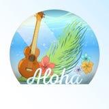 Της Χαβάης κάρτα απεικόνιση αποθεμάτων