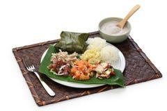 Της Χαβάης παραδοσιακό μεσημεριανό γεύμα πιάτων Στοκ Φωτογραφία