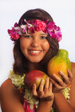 της Χαβάης πορτρέτο lei κορι&ta Στοκ φωτογραφίες με δικαίωμα ελεύθερης χρήσης