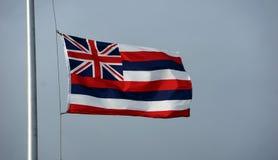 Της Χαβάης σημαία στον πόλο Στοκ Εικόνες
