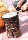 Της Χαβάης τύμπανο Tiki Στοκ Φωτογραφία
