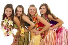 της Χαβάης hula κοριτσιών χορ&ep Στοκ Φωτογραφίες