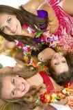 της Χαβάης hula κοριτσιών χορ&ep Στοκ φωτογραφίες με δικαίωμα ελεύθερης χρήσης