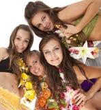 της Χαβάης hula κοριτσιών χορ&ep Στοκ εικόνα με δικαίωμα ελεύθερης χρήσης