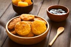 Της Χιλής πρόχειρο φαγητό αποκαλούμενο Sopaipilla Στοκ εικόνα με δικαίωμα ελεύθερης χρήσης