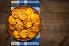 Της Χιλής πρόχειρο φαγητό αποκαλούμενο Sopaipilla Στοκ φωτογραφία με δικαίωμα ελεύθερης χρήσης