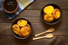 Της Χιλής πρόχειρο φαγητό αποκαλούμενο Sopaipilla Στοκ φωτογραφίες με δικαίωμα ελεύθερης χρήσης