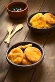 Της Χιλής τηγανισμένες Sopaipilla ζύμες Στοκ Εικόνα