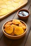 Της Χιλής τηγανισμένες Sopaipilla ζύμες Στοκ φωτογραφίες με δικαίωμα ελεύθερης χρήσης