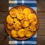 Της Χιλής τηγανισμένες Sopaipilla ζύμες Στοκ Εικόνες