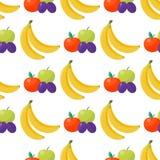 Της Apple υποβάθρου διανυσματικό απεικόνισης υφαντικό πράσινο φυσικό χορτοφάγο υγιές θερινό σκηνικό σχεδίων φρούτων άνευ ραφής Στοκ Εικόνες